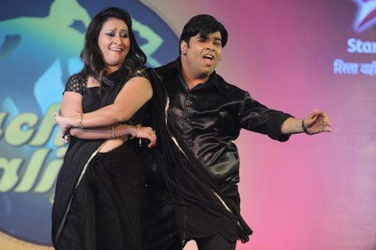 Funnyman Kiku with Priyanka