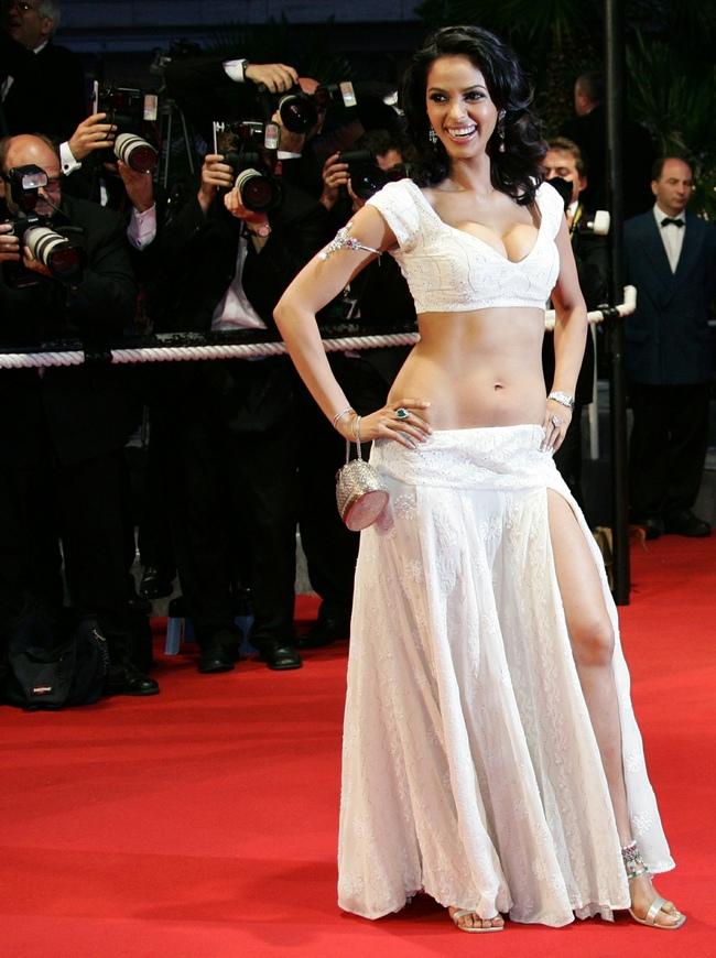 In 2005, Mallika Sherawat created a furore by making a red carpet appearance in a white lehenga-choli.