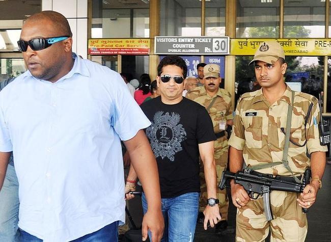 Sachin Tendulkar @ Ahmedabad Airport
