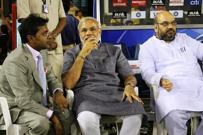 Lalit Modi, Narendra Modi and Amit Shah