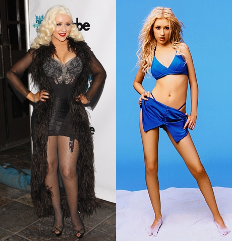 Female Celebrity Transformation from Fat-to-Fit # 8: Christina Aguilera
