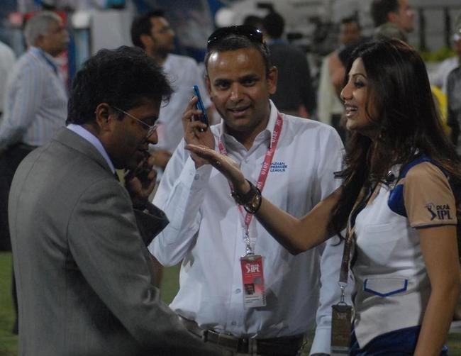 Lalit Modi, Sundar Raman and Shilpa Shetty