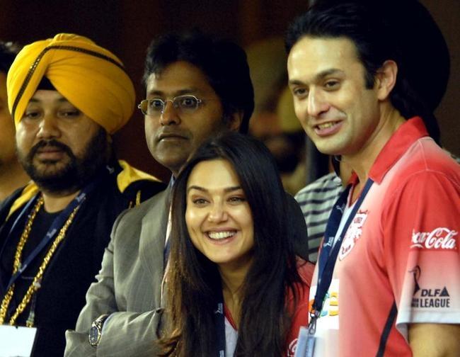 Daler Mehndi, Lalit Modi, Preity Zinta and Ness Wadia