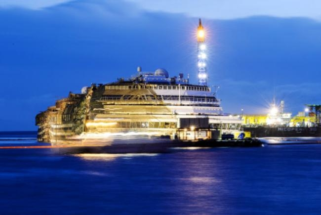 Costa Concordia Finally Raised