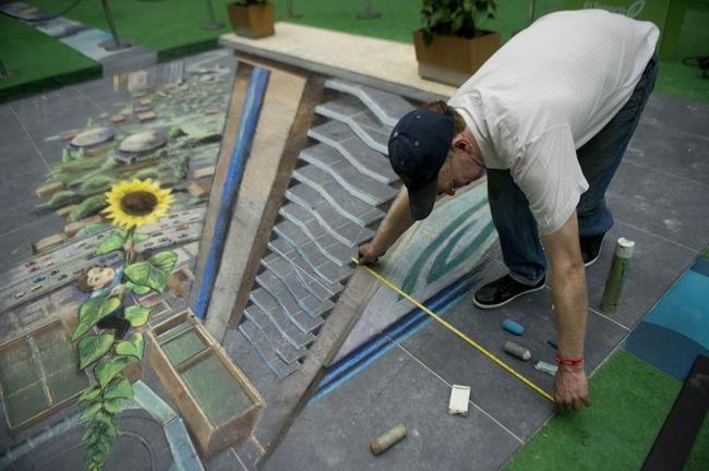 Stunning 3D Art Piece in MedellinStunning 3D Art Piece in Medellin