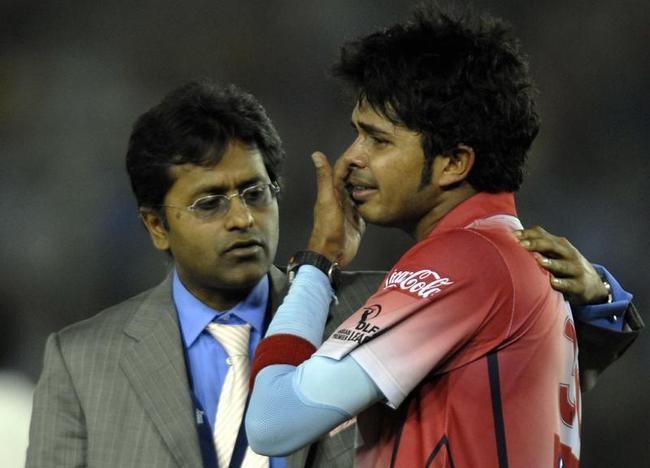 Lalit Modi and Shanthakumaran Sreesanth