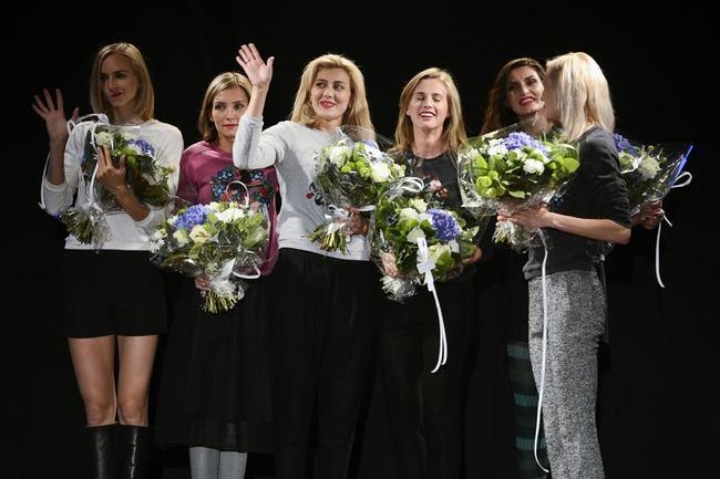 Svetlana Shkolina, Olga Saladukha, Ekaterina Chemenko, Kseniia Ryzhova, Anna Chicherova and Irina Gordeyeva