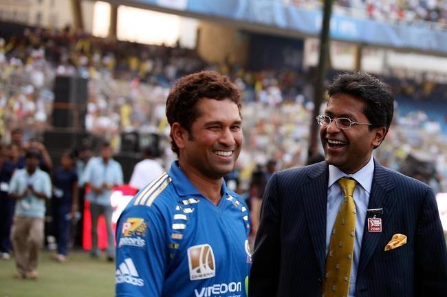 Lalit Modi and Sachin Tendulkar