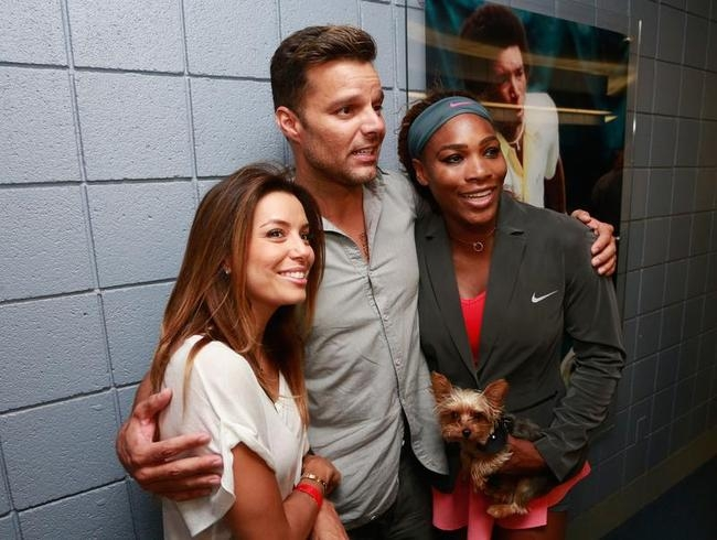 Eva Longoria, Ricky Martin celebrate and Serena Williams