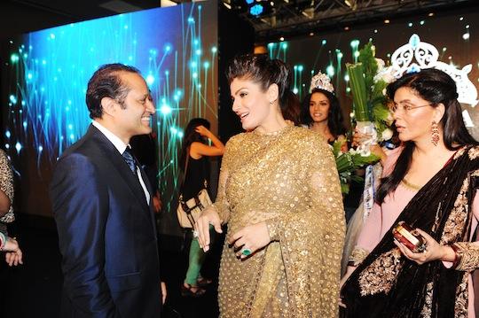 Times Group MD Mr Vineet Jain in conversation with Raveena Tandon, Zeenat Aman