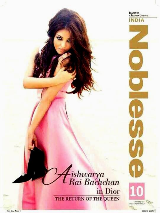 Aishwarya Rai Bachchan does a smoking-hot photoshoot for Noblesse India - a fashion and lifestyle magazine.  Courtesy: UTV