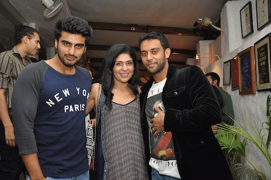 Arjun Kapoor with Anaita and Sunny Sara