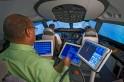 Interior of 787 Simulator