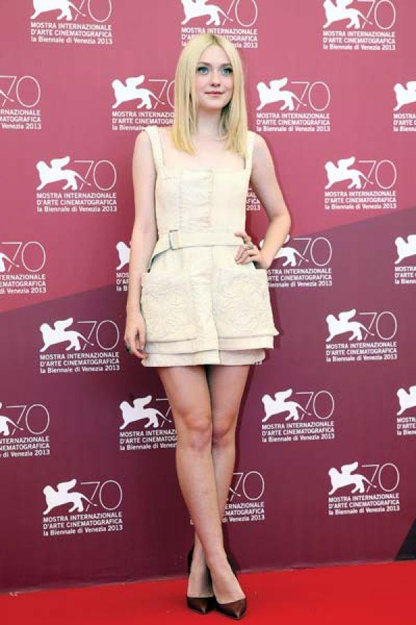 Dakota Fanning in Alexander McQueen