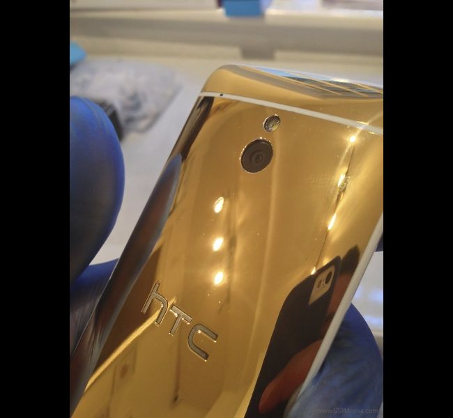 HTC One Mini Gold variant looks classy and completely 24 karat gold plated. Unlike the iPhone Chanpagne, we doubt HTC will officially release the gold variant.All Images Courtesy: GSMArena