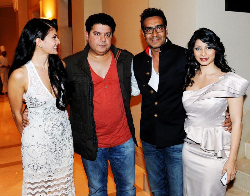 Jacqueline Fernandez, Sajid Khan, Tanisha and Ajay Devgn
