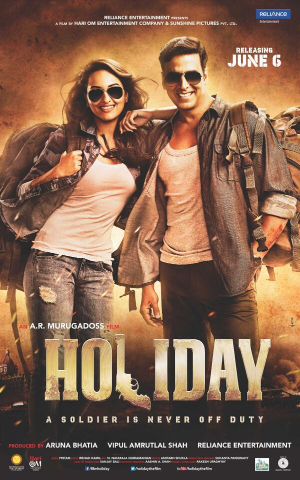 Akshay Kumar and Sonakshi Sinha, who've lit up the big screen together in the past, reunite for Holiday - A Soldier Is Never Off Duty