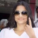 Vidya Balan votes in Lok Sabha Elections 2014