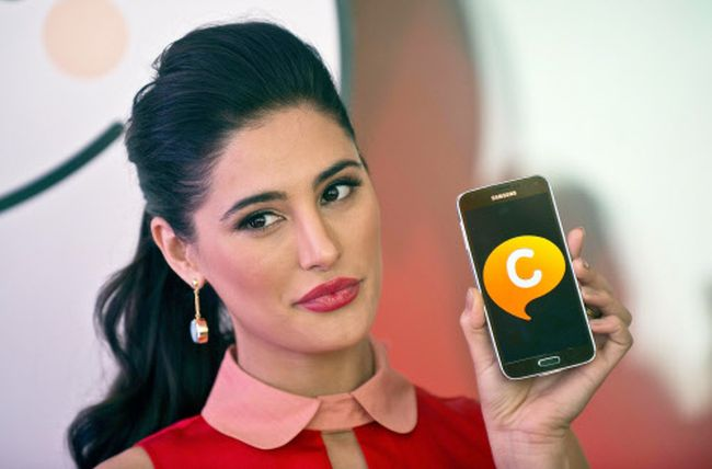 Nargis Fakhri launched the all new Samsung App, Samsung Galaxy ChatON with new features.