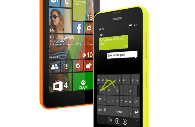 Nokia Lumia 630 comes with 8GB internal memory. The memory can further be expanded to 128GB!
