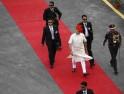 PM Modi arrives to address the nation