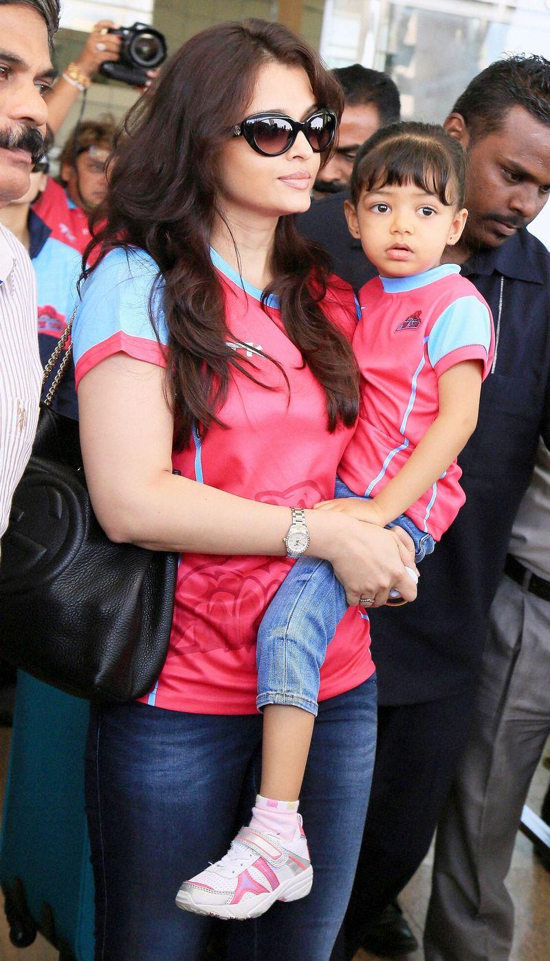 Aishwarya and Aaradhya Bachchan