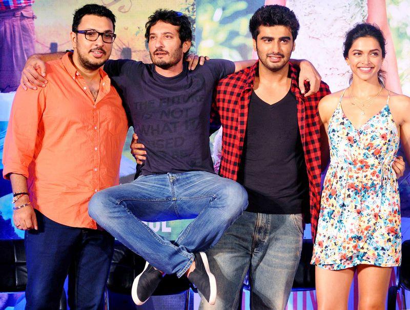 Dinesh Vijan, Homi Adajania, Arjun Kapoor, Deepika Padukone