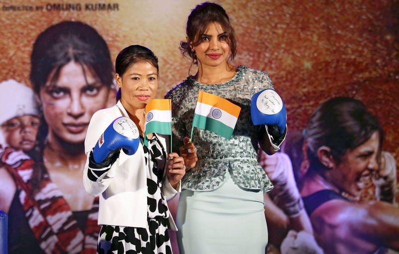 Mary Kom and Priyanka Chopra