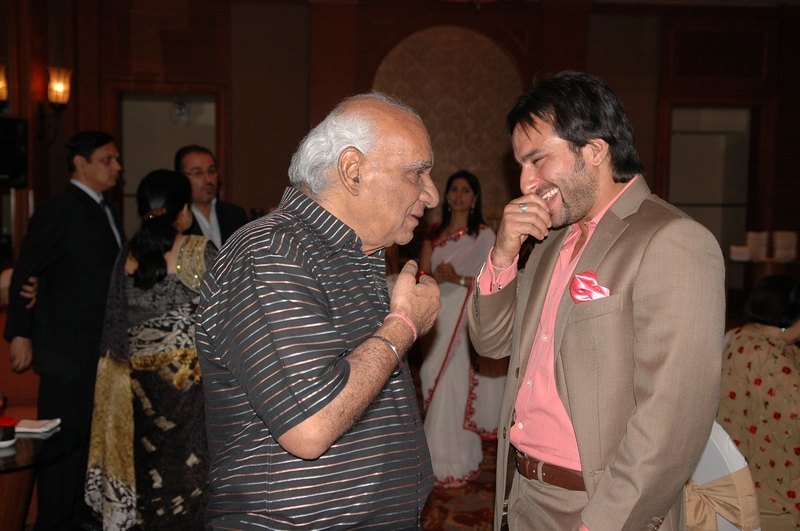 Saif Ali Khan and Yash Chopra
