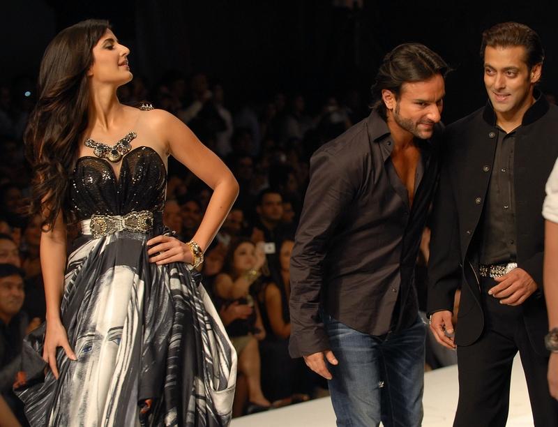 Saif Ali Khan, Salman Khan and Katrina Kaif