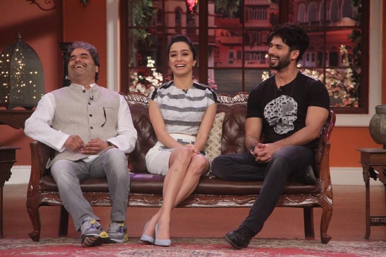 Vishal Bhardwaj, Shraddha Kapoor and Vishal Bhardwaj