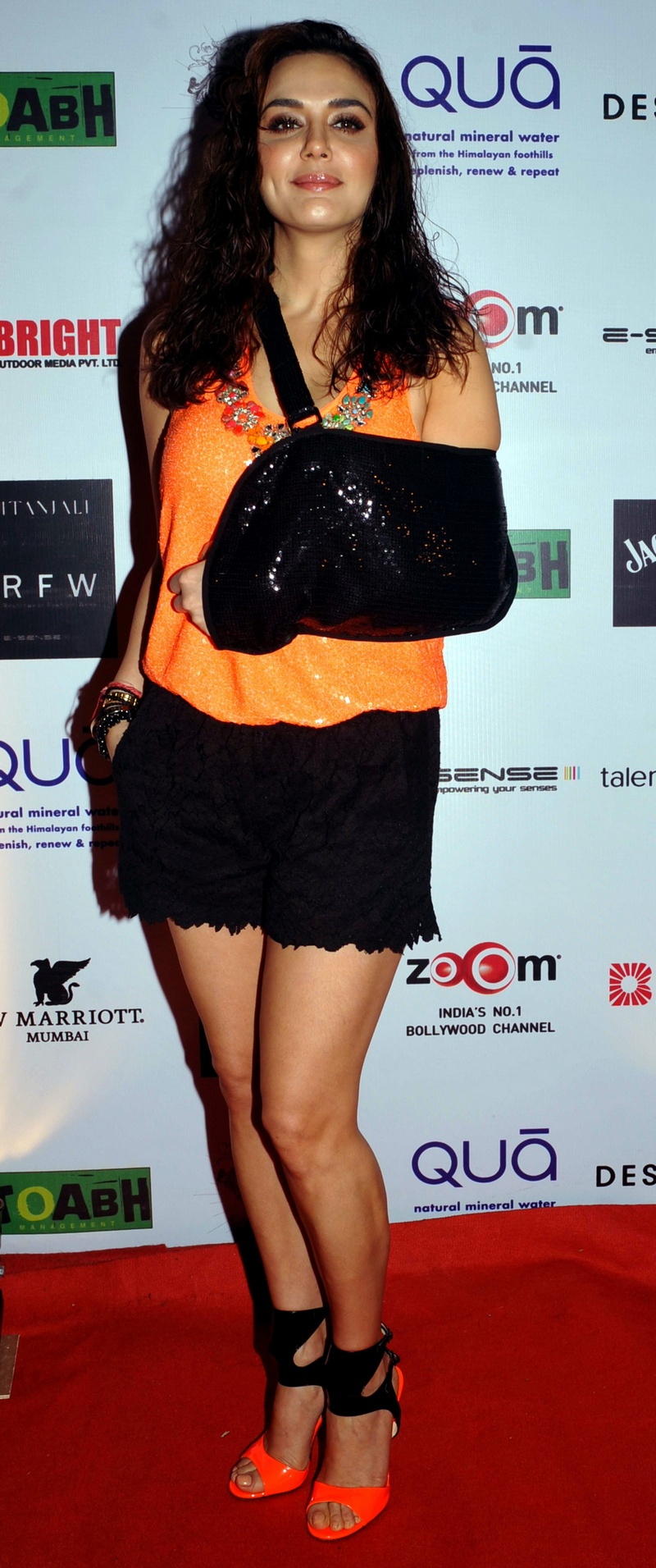 Injured Preity Zinta