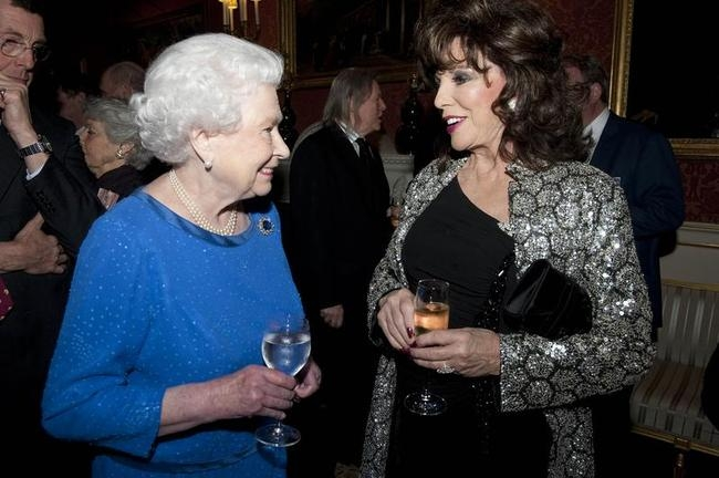 Queen Elizabeth II & Joan Collins