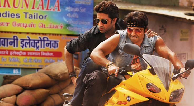 Abhishek Bachchan and Uday Chopra in the Dhoom films