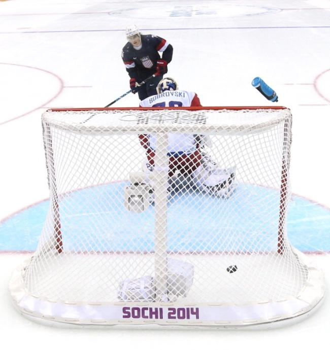 Not quite a Cold War: TJ Oshie of USA nets a winner against Russia