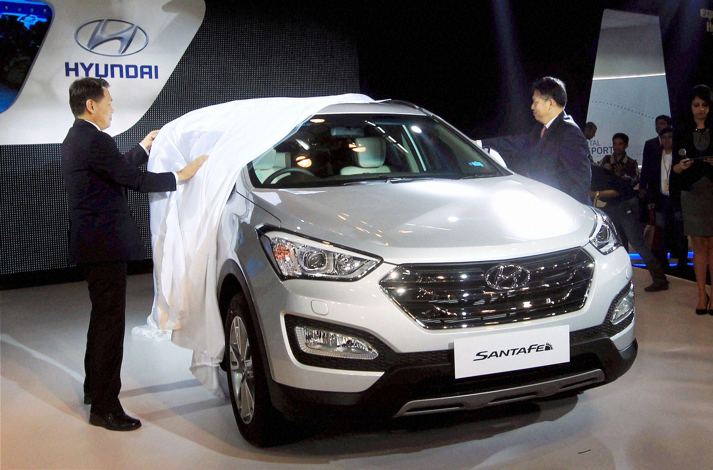 hyundai new car releaseHot Babes On Hot Wheels At Auto Expo 2014  Indiatimescom