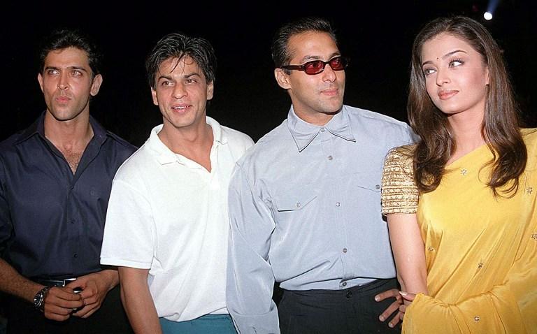 Hrithik Roshan, Shah Rukh Khan, Salman Khan, and Aishwarya Rai