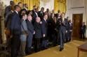 Barack Obama, LeBron James, Chris Bosh, Pat Riley, Erik Spoelstra