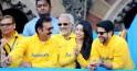 Gulshan Grover, Aftab Shivdasani at Mumbai Marathon 2014