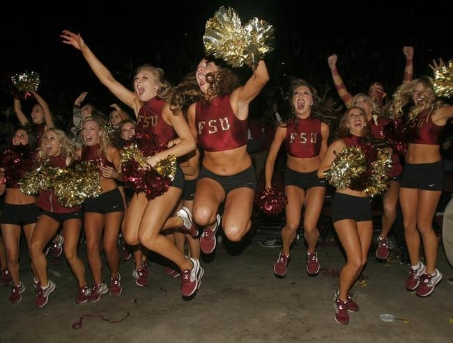 Florida State Golden Girls cheerleaders