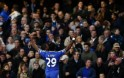 Chelsea's Eto'o celebrates after scoring his sides first goal during their English Premier League soccer match against Manchester United at Stamford Bridge