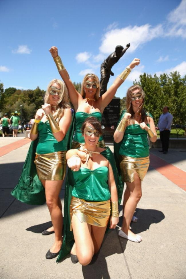 Fans Come Dressed Fancily for 1st ODI