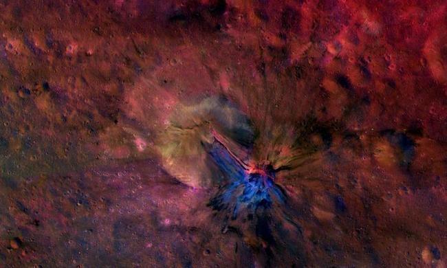Giant asteroid Vesta surface