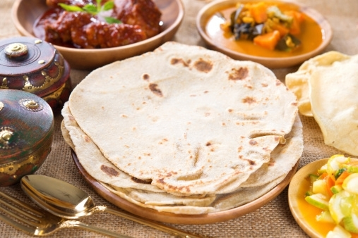 Indian Cuisine: Eating Healthy at a Restaurant Rotis and Rice variants