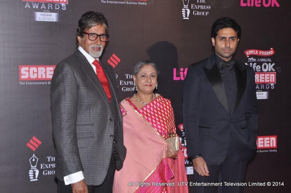 Amitabh Bachchan, Jaya Bachchan, Abhishek Bachchan