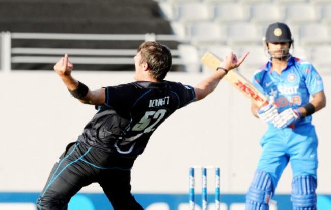 Hamish Bennett Got the big fish - Virat Kohli