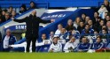 Chelsea's manager Mourinho gestures during their English Premier League soccer match against Manchester United at Stamford Bridge