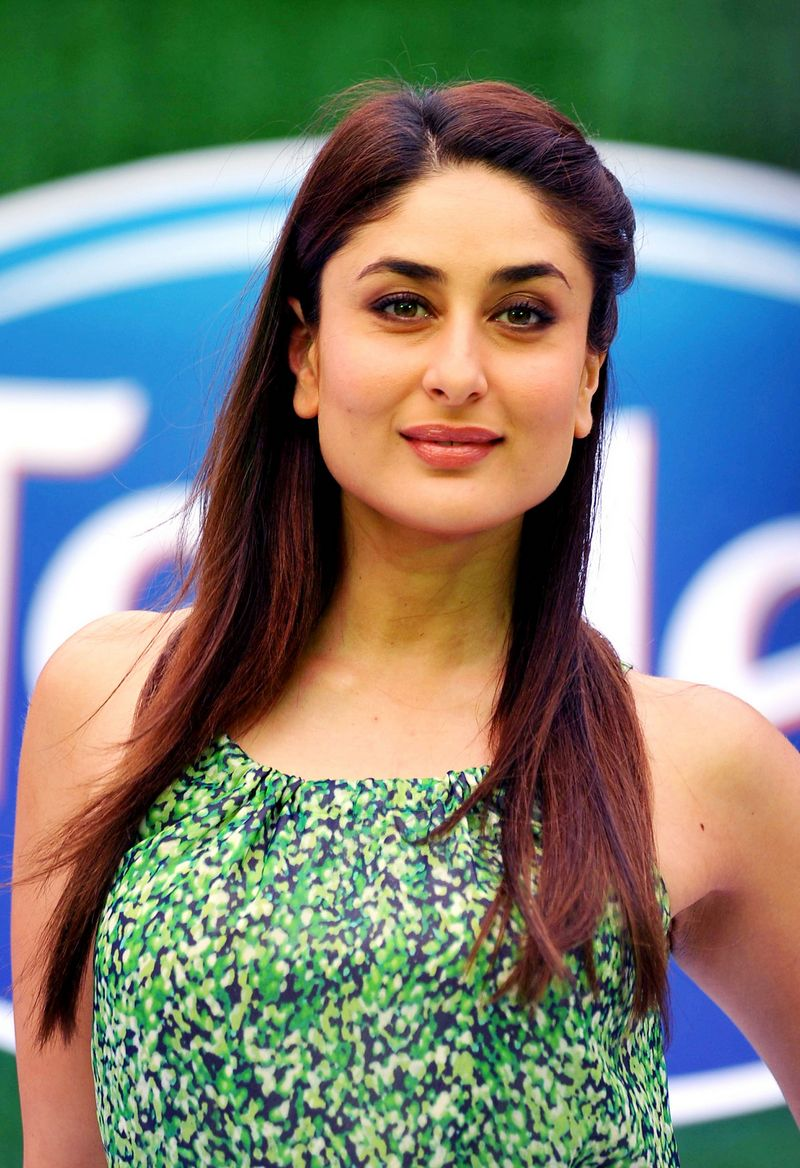 A fresh-faced and radiant Kareena Kapoor Khan cut a lovely picture the other day in a pretty green dress. Photo: AFP