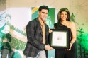 Gautam Rode gives award for Best Chocolatier: Fantasie Fine Chocolate