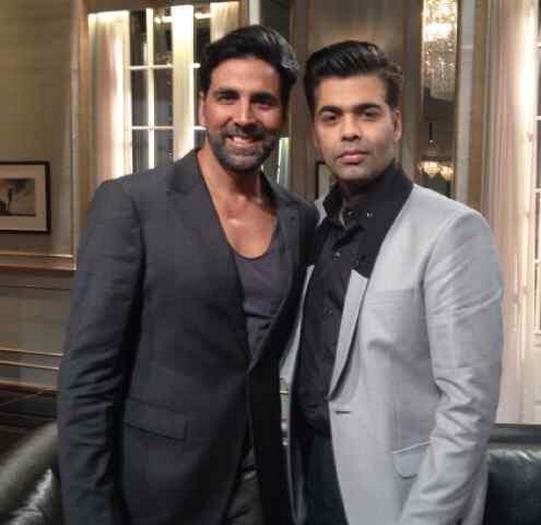 Akshay Kumar and Karan Johar